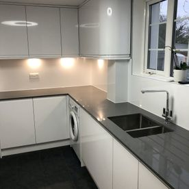 Kitchen with granite top